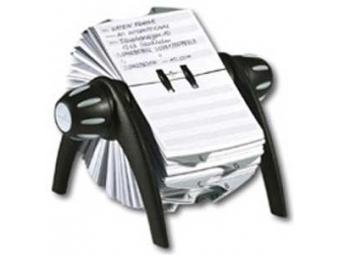 Durable Vizitkár rotačný Telindex Flip čierny/sivý
