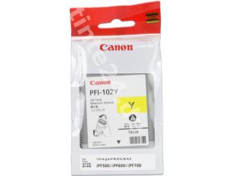 Canon PFI-102 Yellow atramentová náplň