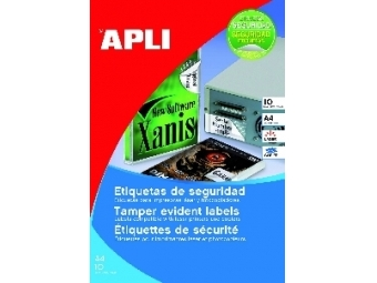 AGIPA Etikety bezpečnostné 45,7x21,2 (bal=10)