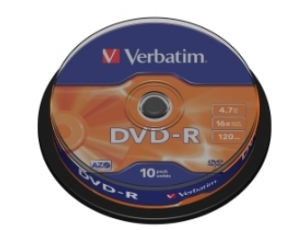 DVD-R VERBATIM 4,7GB 16x cake box (bal=10ks) 43523