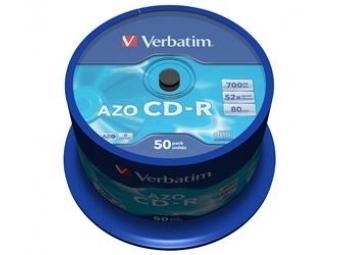 CD-R VERBATIM AZO Crystal 700MB 52x cake box (bal=50ks) 43343