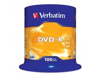 DVD-R VERBATIM 4,7GB 16x cake box (bal=100ks) 43549