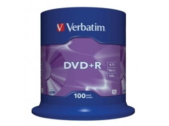 DVD+R VERBATIM 4,7GB 16x cake box (bal=100ks) 43551