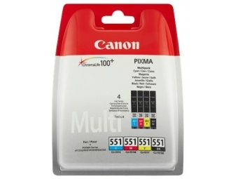 Canon CLI-551 Atramentová náplň Multipack, C/M/Y/K