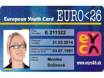 Preukaz Karta EURO<26