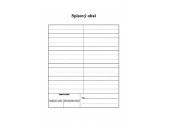 Tlačivo Spisový obal, dvojlist, A4 (bal=500ks)