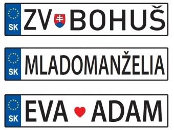 ŠPZ-ka, Špeciálna dekoratívna tabuľka