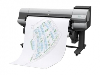 Výtlačok CAD ploter / Biely papier v rol 80g