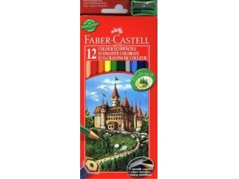 Faber-Castell pastelky,sada 12ks + strúhadlo