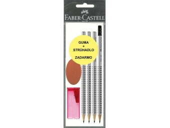 Faber-Castell Set Grip 2001 ceruzky+strúhadlo+guma ZADARMO