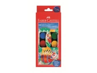 Faber-Castell Vodové farby 12-farebné, priemer 24mm