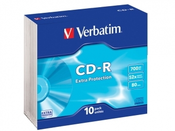 CD-R VERBATIM Extra Protection 700MB 52x slim box (bal=10ks) 43415