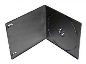 Obal na CD/1ks PP slim box 5,2mm, čierny nepriehľadný (27017)
