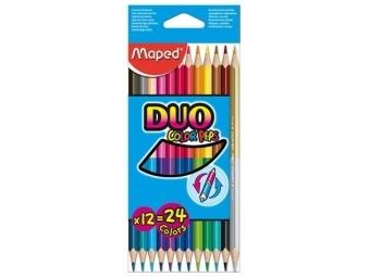 Maped COLOR´PEPS DUO dvojfarebné pastelky,sada 12ks