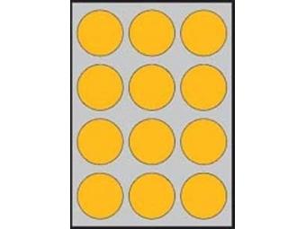 APLI Etikety kruhové neon. oranžové 60mm (bal=20ks)