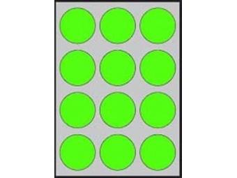 APLI Etikety kruhové neon. zelené 60mm (bal=20ks)