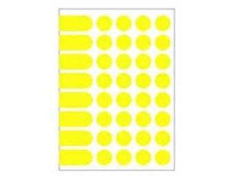AGIPA Etikety na A5 24mm žlté (bal=10ks)