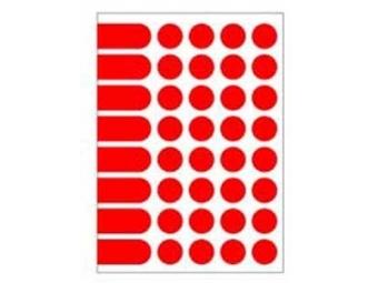 AGIPA Etikety na A5 24mm červené (bal=10ks)