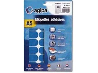 AGIPA Etikety na A5 24mm modré (bal=10ks)
