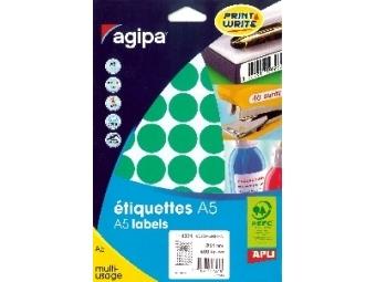 AGIPA Etikety na A5 24mm zelené (bal=10ks)