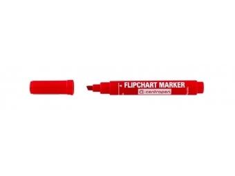 Centropen 8560 FLIPCHART zrezaný hrot červený