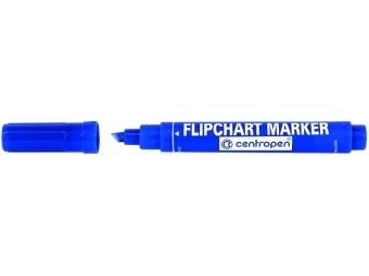 Centropen 8560 FLIPCHART zrezaný hrot modrý
