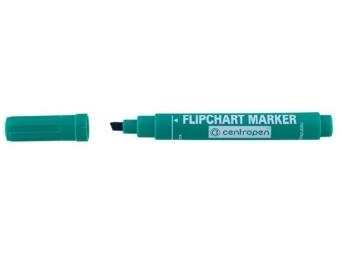 Centropen 8560 FLIPCHART zrezaný hrot zelený