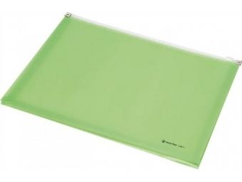 Panta Plast Obal A4 PP so zipsom,s rozšíren. dnom,pastel.zelená