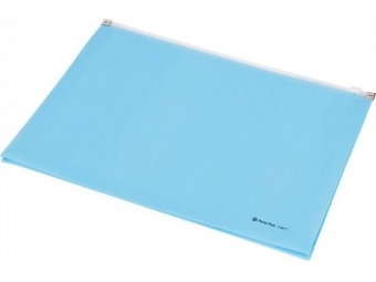 Panta Plast Obal A4 PP so zipsom,s rozšíren. dnom,pastel.modrá