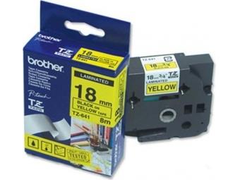 Brother TZ-641 Laminovaná páska 18mm žltá/čierna