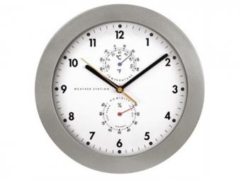Hama 123159 nástenné hodiny PG-300 s teplomerom/vlhkomerom, riadené rádiovým signálom