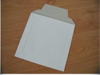 Obálka na CD kartónová biela 160X160mm