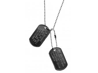 Dog tag, Dvojica identifikačných vojenských známok s retiazkou