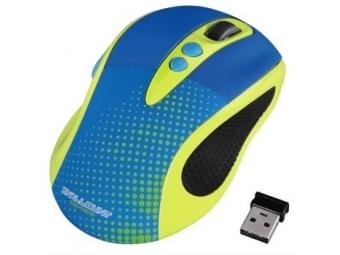 Hama 86545 Knallbunt, farebná optická bezdrôtová myš, žltá