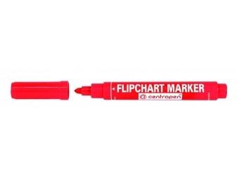 Centropen 8550 FLIPCHART guľatý hrot červený