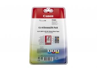 Canon CLI-8 Atramentová náplň Color multipack, C/M/Y