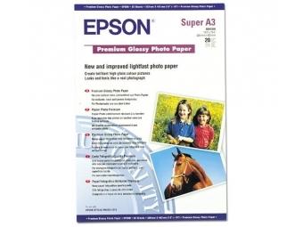 Epson Premium Glossy Photo Paper, (S041316), 255g, A3+ (bal=20ks)