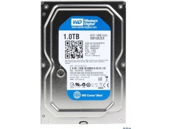 """WD WD10EZEX 1000GB HDD 3,5"""", 7200RPM, Serial ATA III., 64MB cache, Caviar Blue"""