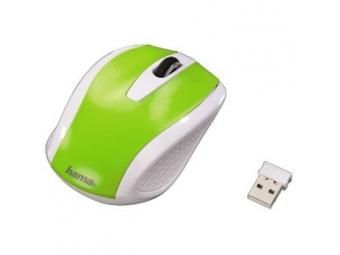 Hama 86535 bezdrôtová optická myš AM-7200, bielo-zelená