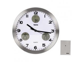 Hama 113982 nástenné hodiny AG-300 Quartz s meteostanicou
