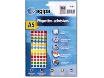 AGIPA Etikety na A5 8mm mix farieb (bal=6 hár)