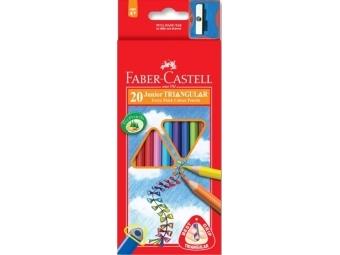 Faber-Castell Pastelky Junior Grip,sada 20ks + strúhadlo