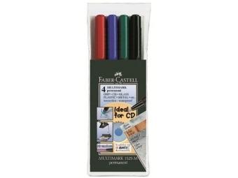 Faber-Castell 1525 Permanentný popisovač Multimark M/1,0mm,sada 4 farby