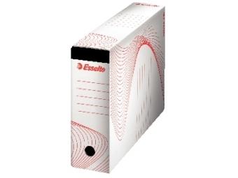Esselte Box archívny na závesné obaly (biela/červená)