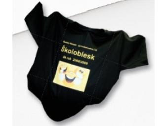 Tričko KLASIK s priamou potlačou, farebné, bavlna