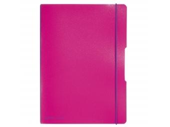 Herlitz Zošit flex s PP obalom s gumičkou A4/2x40l (linajk.+štvorček.) ružový
