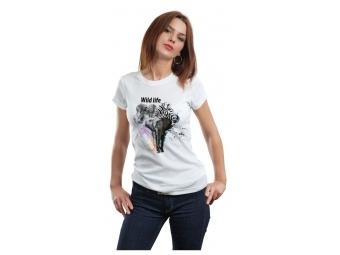 Tričko KLASIK s priamou potlačou, biele, bavlna