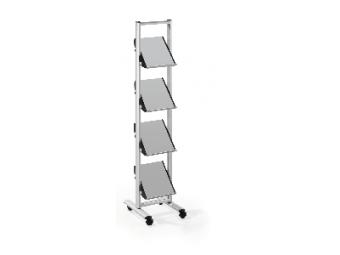 HELIT Prezentačný mobilný stojan 4xA4
