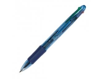 Q-Connect guličkové pero 4-farebné plastové jednorazové
