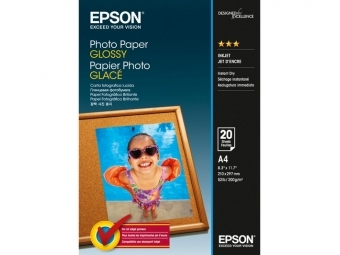 Epson Glossy Photo Paper, (S042538), A4, 200g (bal=20ks)